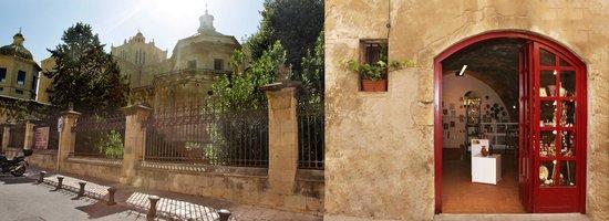 Galería Tarraco: Front of the gallery and garden.