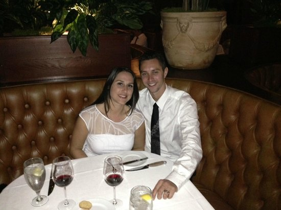 Harris' Steakhouse : Happy in love at Harris. Great place to celebrate special occasions