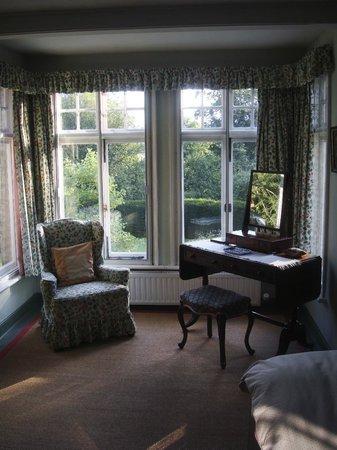 Bulmer Tye House: Single bedroom with view over garden