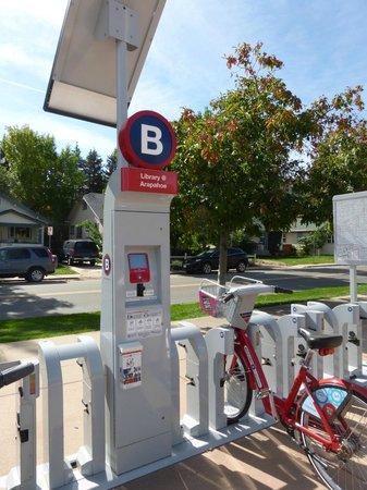 Boulder Creek Path: Boulder B-cycle station