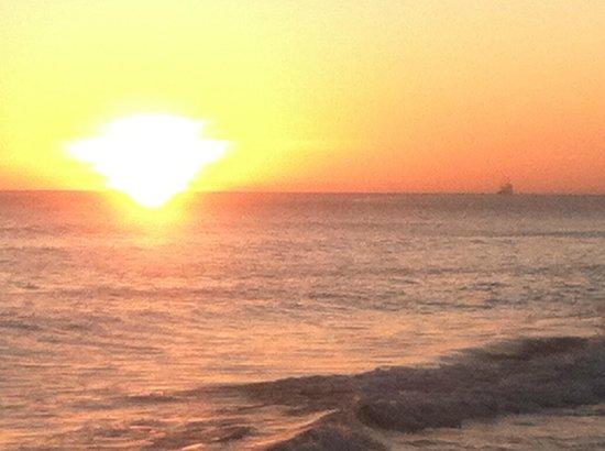 Frigate Bay : sunset from near Timothy's Beach