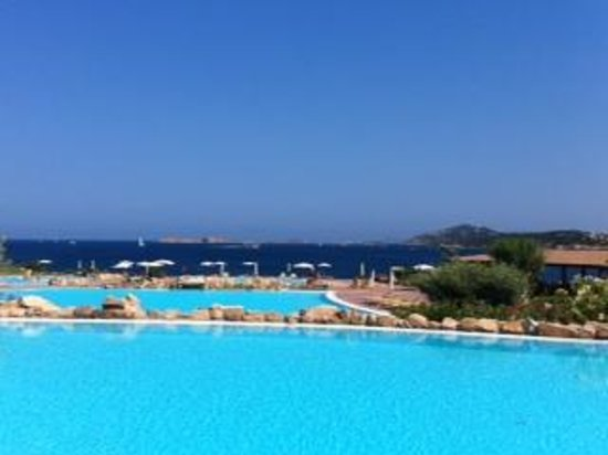 Colonna Resort: Another beautiful day at the Resort's pool overlooking the Sea.