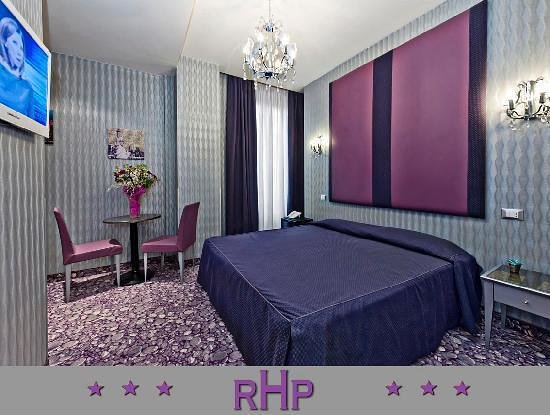 "Hotel Relais dei Papi: ""publicity"" photo we were sent to represent our room!  NOTHING like this!!"
