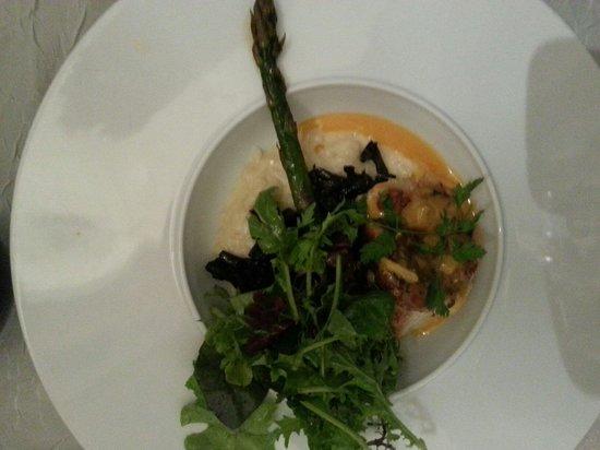 La Vieille Gabelle : Médaillon de lotte et son risotto aux champignons