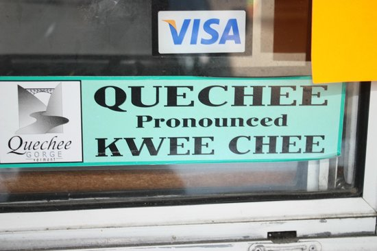 Quechee Inn At Marshland Farm: Quechee as in 'Kwee Chee'. (A sign at Quechee Gorge).