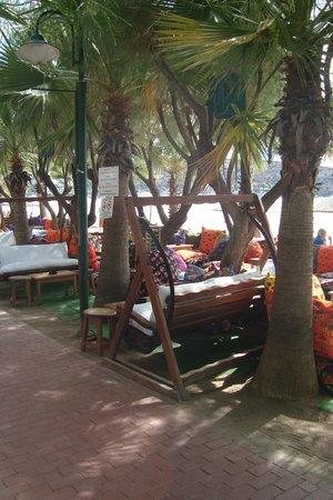 Okaliptus Hotel: Lounge plek bij het strand