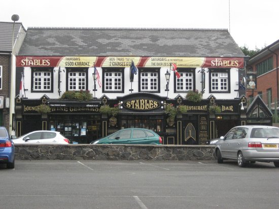 The Stables Bar: View from road