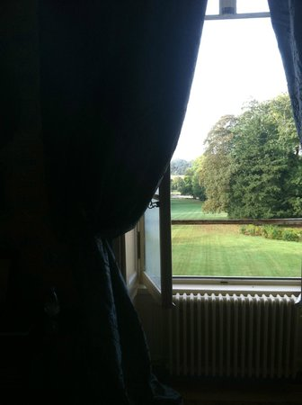 Chateau de la Ferriere: Our room looked out across the front lawn.