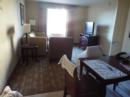 Homewood Suites by Hilton Lake Buena Vista-Orlando: Sala com sofá cama