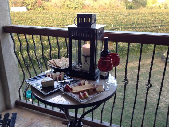 Sannino Vineyard B and B: Wine and Cheese on the Terrace