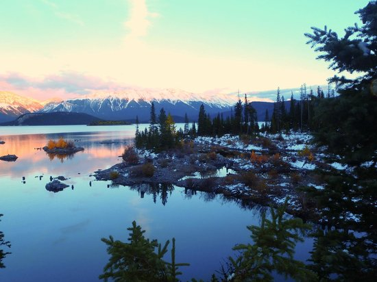 Canmore, Canada: View from The Point campsite (evening)