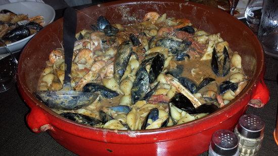 Le Pique Bouffigue: pâtes aux crevettes