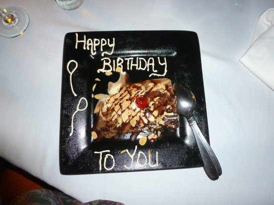 The Beach House Restaurant: My birthday cake