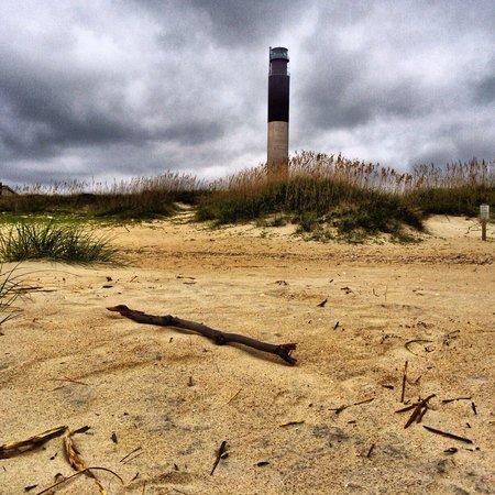 Oak Island Lighthouse: The beach view