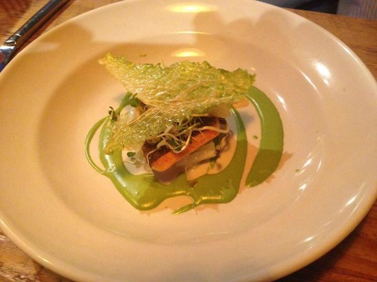 Rich Table : Rainbow Trout with Cabbage Chips