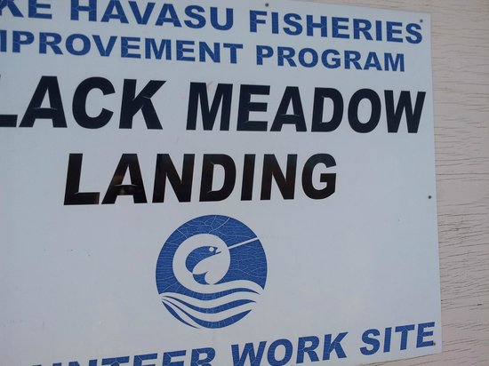 Black Meadow Landing: sign at black meadow