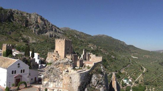 Vista aérea Castillo de Zuheros