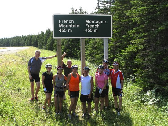 Freewheeling Adventures: At the summit of French Mountain, Cape Breton, NS