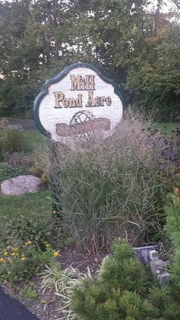 Mill Pond Acre Bed & Breakfast : Sign out front
