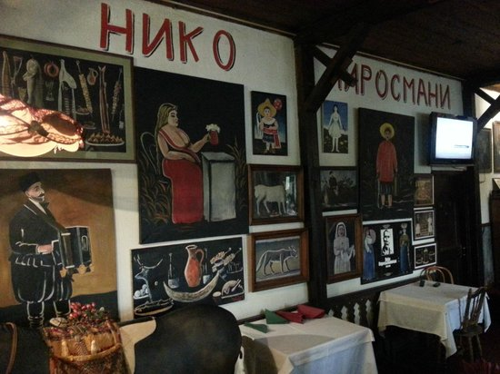 U Pirosmani: aynı adı taşıyan restoranda Pir Osman tabloları