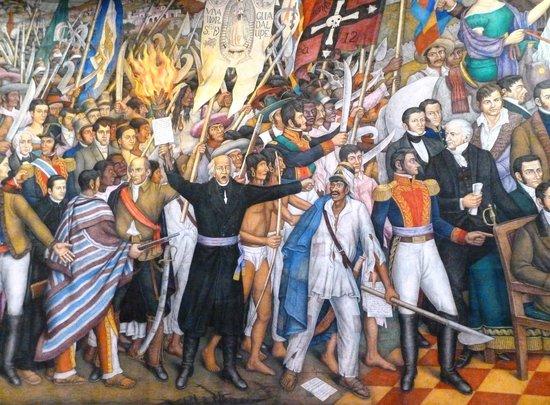 Mural el grito de hidalgo picture of chapultepec castle for Benito juarez mural