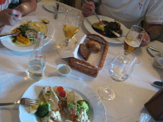 Balthasar: Aspecto de la mesa en la comida