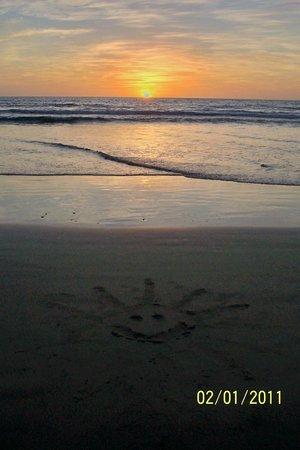 Sol Pacifico Cerritos: Beach art at sunset