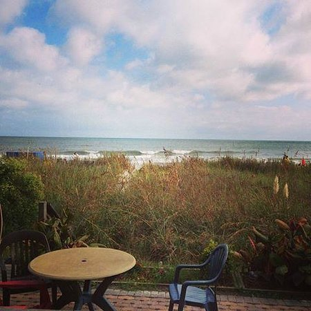 Molly Darcy's On the Beach: Ocean view from the patio