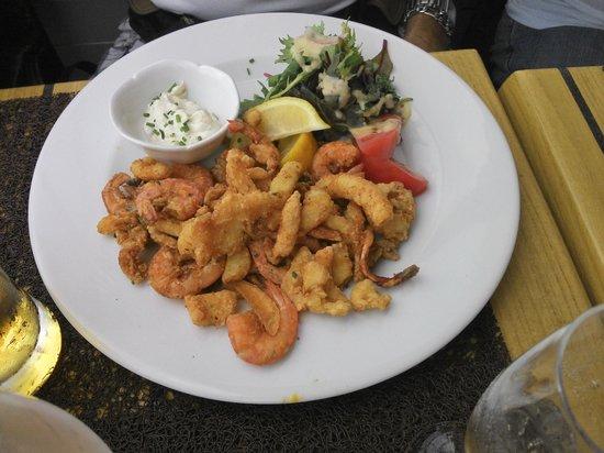 Les Corsaires : Fritada de frutos do mar