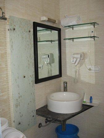 Hotel Crystal Paark Inn: Wash basin racks