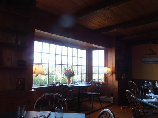 Bistro at Ten Acres: view of valley from table in front room