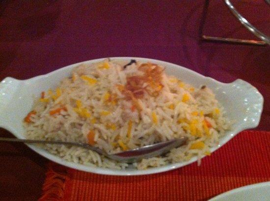 Sajna Restaurant: Saffron Rice
