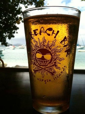 Ice cold beer says it all at the Beach Bar