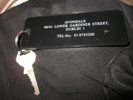 Avondale House: The key that was to be handed on.