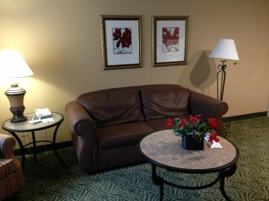 Homewood Suites Seattle - Tacoma Airport / Tukwila : Living area at the Homewood Suites Seattle - Tacoma Airport