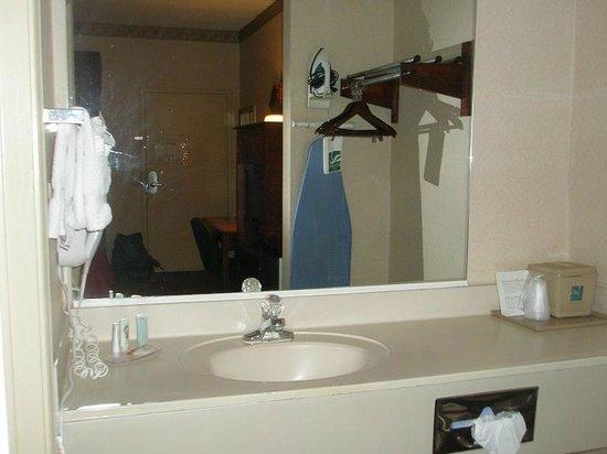 Quality Inn near Six Flags: Sink (nice reflection)