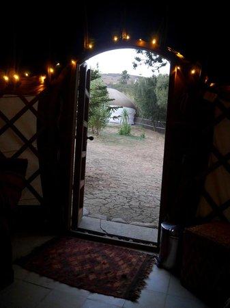 Yurts Tarifa: Looking out of the yurt doorway