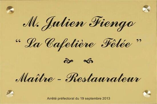 Restaurant La Cafetière Fêlée : maître restaurateur