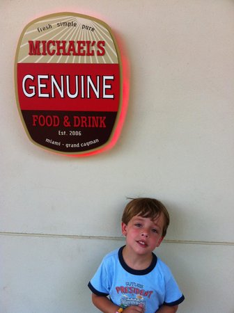 Michael's Genuine Food & Drink : Michael's Genuine at Camana Bay is great for family meals and business meetings.