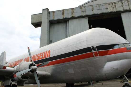 Guppy on display outside at the Tillamook Air Museum