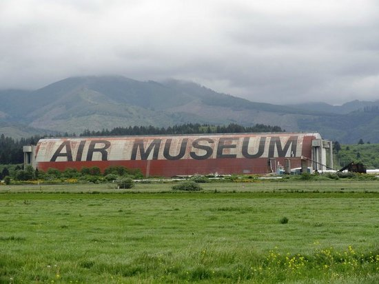 The Tillamook Air Museum seen from a distance