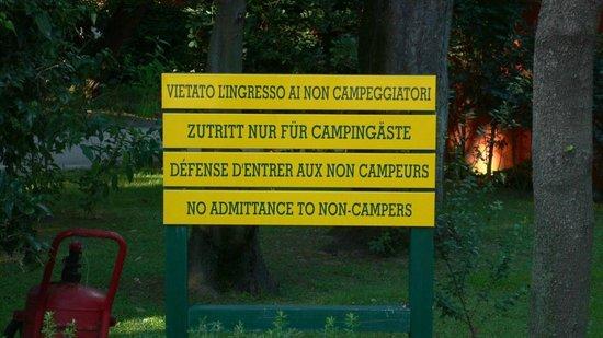 Vulcano Solfatara: Camping-Äste