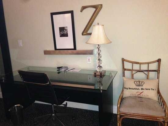 Hotel ZaZa Dallas: More art for sale and pillows that try to hard. And yeah, we know your name is ZaZa.