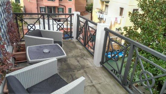 Hotel Giudecca Venezia: our balcony