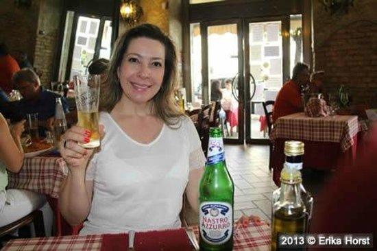Trattoria Memmo : Cerveja italiana bem gelada!
