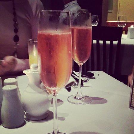 Figs: strawberry champagne :)