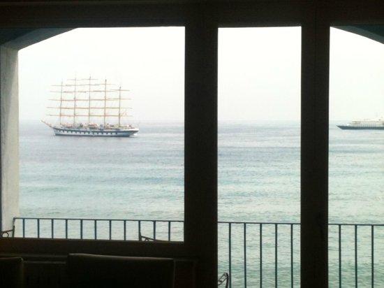 Hotel Palladio: Vista della baia di Naxos dal 3° piano.