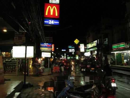 Lek City Hotel: the main road