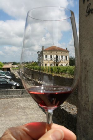 Chateau Villemaurine : A glass of wine at the end of the tour, beautiful