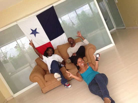 San Francisco Inn Hostel Panama: En la recepcion